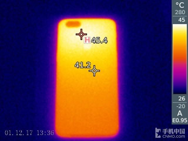 一加手机5T(64GB)发热测试