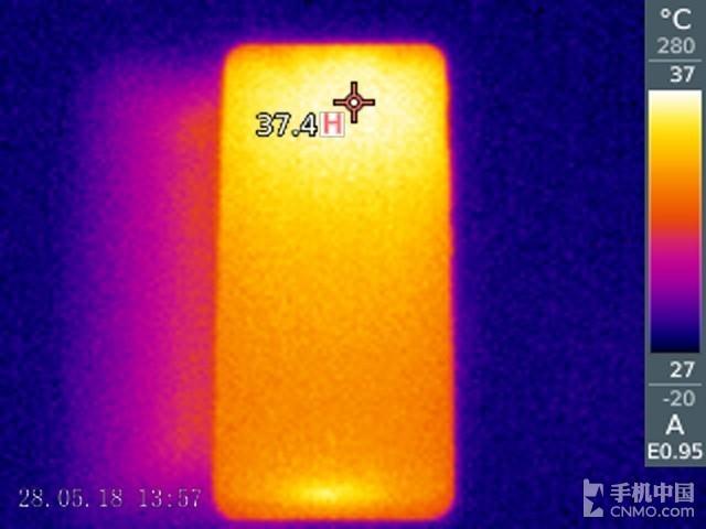 努比亚红魔电竞游戏手机(128GB)发热测试