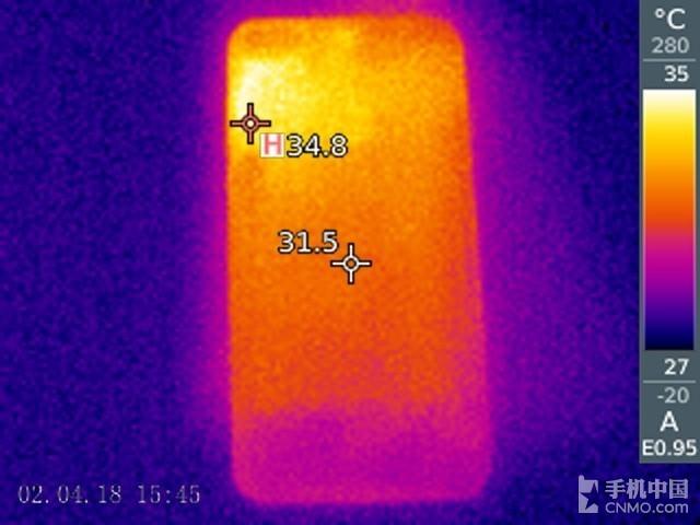 华为畅享8(64GB)发热测试