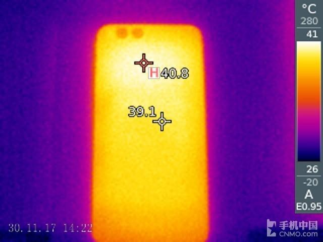 小米6(陶瓷尊享版)发热测试