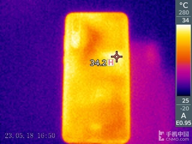 华为P20 Pro(64GB)发热测试