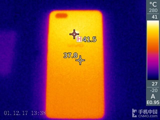 vivo X20Plus发热测试