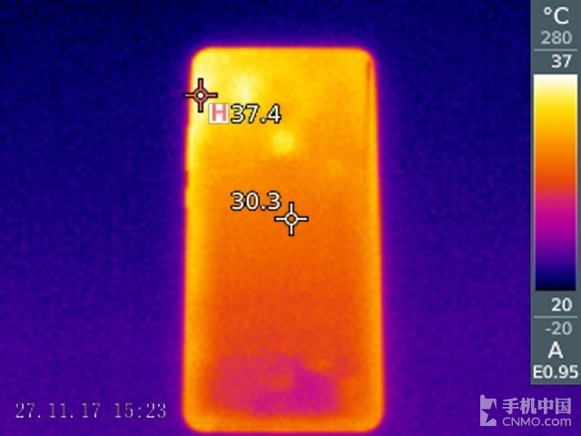 华为Mate 10 Pro(128GB)发热测试