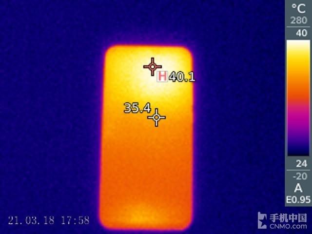 华为nova 3e(64GB)发热测试